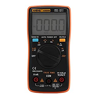 Akozon ANENG Digital Multimeter Autoranging,AN8008 True-RMS Digital Multimeter AC DC Voltage Ammeter Current Ohm Meter-Diode/Shutdown,Frequency and Duty Cycle Measurements-LCD Display-9999 Counts