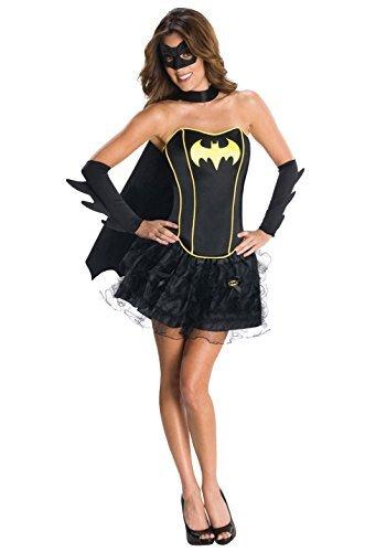 Damen Verkleidung Batgirl Supergirl Wonder Woman Robin Superheld Korsett Tutu Halloween Hen Do Modisches Kostüm Größen EU 34-46 - Batgirl, EU (Korsetts Superhelden)