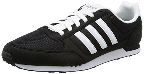 adidas Herren Neo City Racer Sneaker, Schwarz (Cblack/ftwwht/Grey), 46 2/3 EU - Tiempo De Villa Del