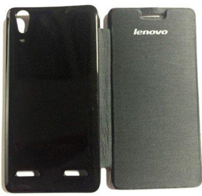 Onkarta Premium Quality Flip Flap Cover Case for Lenovo A6000 - Black