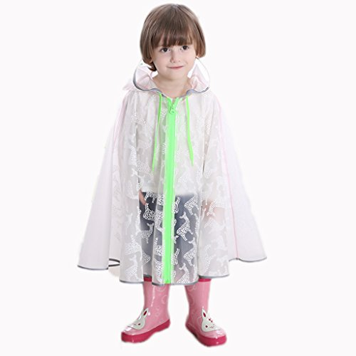 LL Kinder Baby Regenmantel, Jungen und Mädchen Regenmäntel Kindergarten Kinder Poncho Student lange tragbare Mode transparent im Freien wasserdichte Regenjacke (Farbe : A, größe : Xl)