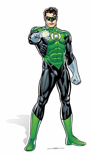 Star Aussparungen Green Lantern DC Comics Life Größe Pappe, Mehrfarbig -