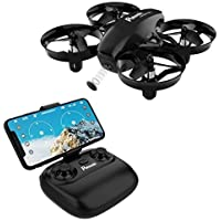 Mini Drone, Potensic WiFi FPV Nano Drone Remote Control Altitude Hold Quadcopter for Beginners, Kids