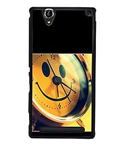 PrintVisa Smily Clock High Gloss Designer Back Case Cover for Sony Xperia T2 Ultra :: Sony Xperia T2 Ultra Dual SIM D5322 :: Sony Xperia T2 Ultra XM50h