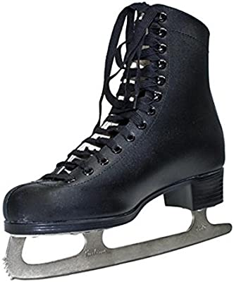 Patines de hielo patinaje Talla 323435Negro Niños Ice Patines en línea
