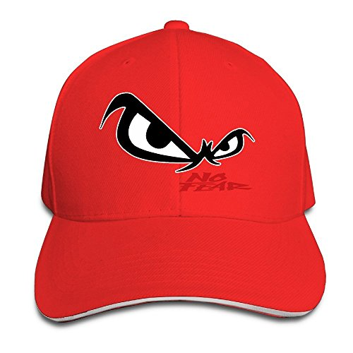 Hittings Unisex No Fear Owl's Eyes Sandwich Baseball Cap Red