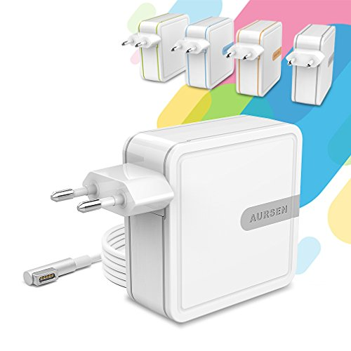 Aursen 60W Ladegerät Adapter für Apple MacBook und Laptop mit Magsafe1, 1.75m Kabel Anschluss, Grau
