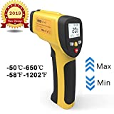 Termometro a Infrarossi, Dr.meter Termometro Laser Digitale Senza Contatto ad Infrarossi, Barbecue, Automotive, Lettura Accurata HD, Display LCD Retroilluminato (IR40)