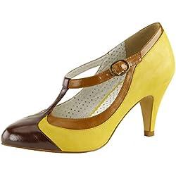 Pin Up Couture Pumps, Damen, Gelb (gelb), Größe 39