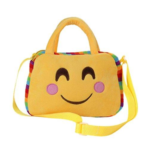 Imagen de goodsatar goodsatar lindo emoji emoticono escuela de hombro bolso del niño  bolsa bolso de la  a1