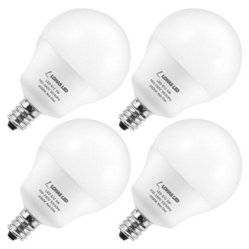 L LOHAS LED Lohas Led G14 3W, A15 Candelabra Birne E12 Basis 120V 5 Watt A15 LED-Birne, Daylight/Soft 3000K Nicht-Dim 6Pack Tageslicht 5000K, E26 4Pack G14 LED-Soft White-E12 Unter weich weiß - 6-lampe-eitelkeit Licht