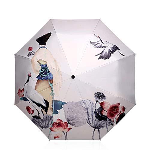DORRISO Plegable Paraguas Mujer Linda Mini Paraguas