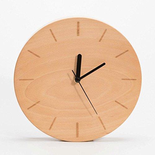 GAOLILI Massivholz Uhr stilvolle Mute Clock Schlafzimmer hölzerne Uhr ( Farbe : B )