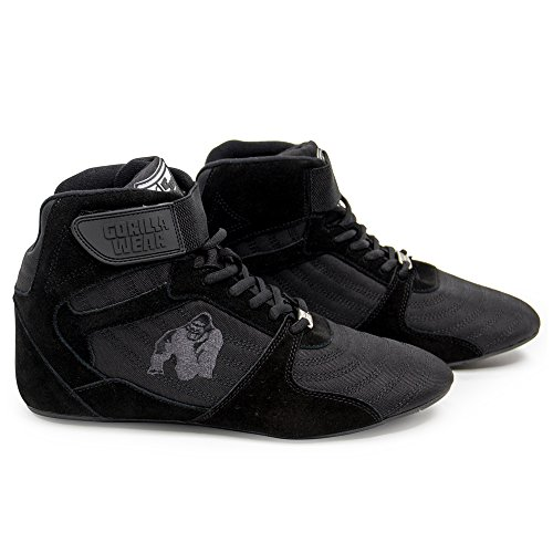 Gorilla Wear Perry High Tops Pro - Black/Black - schwarz/schwarz - Bodybuilding und Fitness Schuhe...