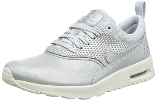 Air Max Silber Nike (Nike Damen Air Max Thea Premium Leather Sneaker, Grau (Metallic Platinum/Sail/Pure Platinum), 38 EU)