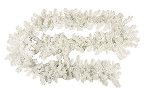 HAAC künstliche Girlande Tannengirlande Tanne weiß Länge 2,7 Meter mit 200 Zweigen