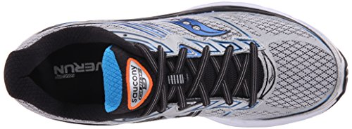 Saucony Guide 9 M, Chaussures de course homme Silver/Blue/Orange