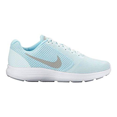 adidas Damen Revolution 3 Laufschuhe Blau (Glacier Blue/matte Silver/still Blue/wol)
