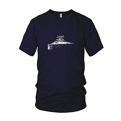 (SW: Sternenzerstörer - Herren T-Shirt, Größe: L, dunkelblau)