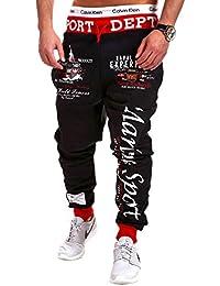 My Trends - R-551 - Pantalon de sport/jogging Marine - inscription et imprimé