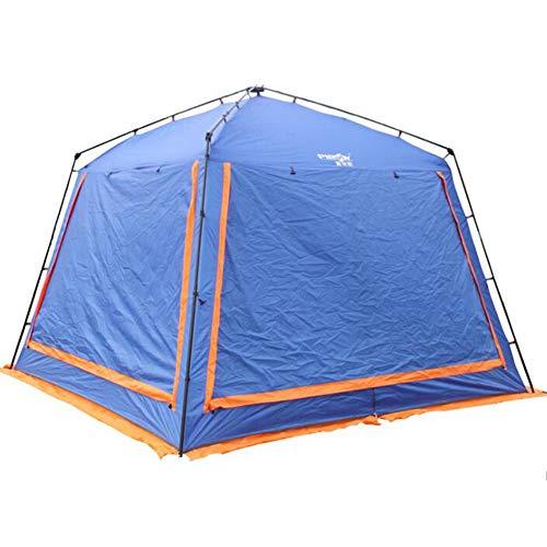 Kcanamgal Übergroßes Zelt Im Freien, 5-8 Personen Doppelt Regensturm Camping Familienzelt Festzelt Großes Kuppelzelt 100% Wasserdichtes Zelt,Blue