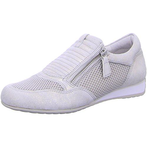 Gabor Confort Femme 46.352pour femme à lacets plats, Baskets, Sneakers Ivoire - puder