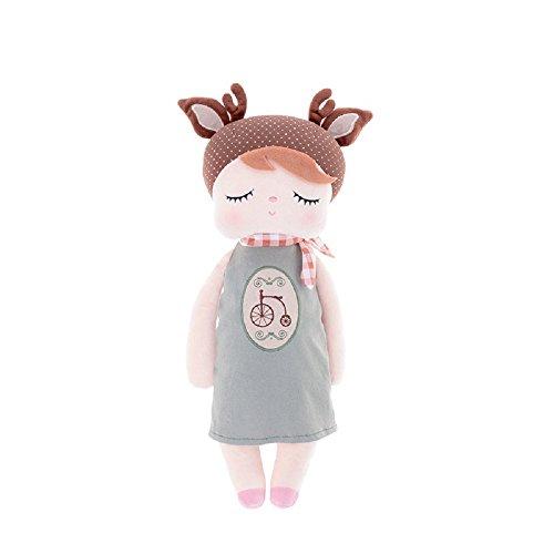 Süße Schlaf Puppe für Mädchen Mama, Metoo Schlafen Angela Girl Plüsch Kleid Bunny Kaninchen Spielzeug Puppen, Fahrrad (32cm x 12cm x 8 cm)