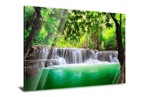 PMP 4life. Wasserfall in Thailand Natur Acrylglas-Bild 120 x 85 cm mit edlem Design | Qualitäts-Druck auf 3mm dicken Plexiglas | Made in Germany | Landschaft Natur Bild