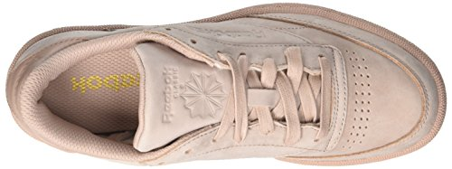 Reebok Club C 85 RS, Chaussures de Gymnastique Homme Rose (Shell Pink/gold Met)