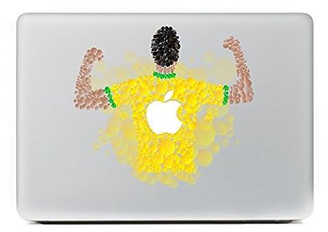 Vati Blätter Removable Kreative Cool Sports Man Vinyl Aufkleber Aufkleber Skin Art Schwarz für Apple Macbook Pro Air Mac 13