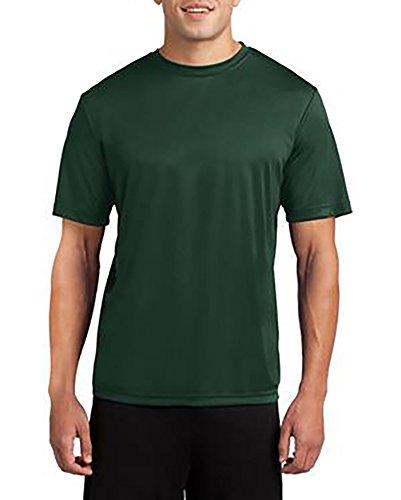 Dri-Wick Herren Sport-T-Shirt Big & Tall Sport Performance Feuchtigkeitstransport - Grün - Large Hoch -