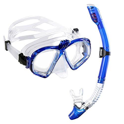 Premium Schnorchelset Taucherbrille mit Schnorchel (extra gopro stand) 100% wasserdichte +Komfort-Gummiband diving mask Erwachsene von WEINAS