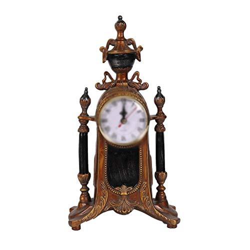 Gold Glockenspiel (ZLBYB Uhrensammlung Mahagoni Wanduhr mit Pendel und Glockenspiel,)