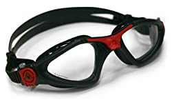 Aqua Sphere Kayenne Goggle With Clear Lens, Black/Red, Regular