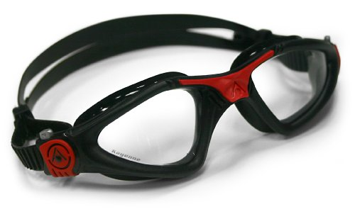 AQUA SPHERE Kayenne Regular Fit Clear Lens Goggles, Incolore/Rosso