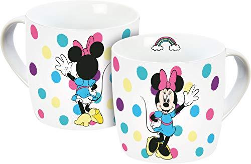 Disney Mickey Mouse 12074 Minnie Maus Tasse, Porzellantasse, Kaffeetasse, Porzellan, 300 milliliters, Mehrfarbig