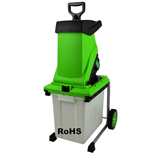 Elektro Garten-Häcksler Messerhäcksler Holz-Schredder 3000W Aststärke bis 44mm(ROZ-G76)