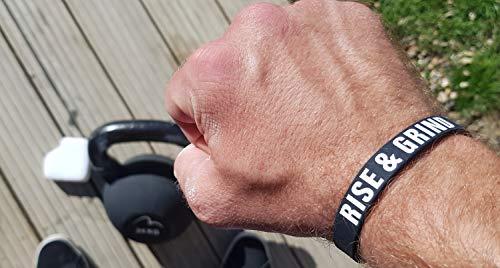 RISE-GRIND-Motivation-Sports-Silicone-Wristband-BLACK