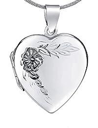 Colgante Medallón Plata para Abrir Corazón Plata de Ley 925