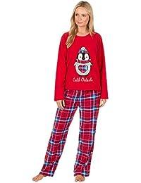 mujer oso Búho Pingüino Manga Larga Pijamas De Forro Polar Cálido de invierno ropa de descanso