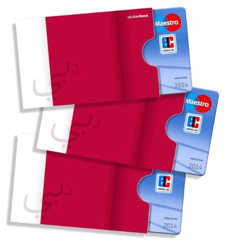 cardbox /// Motiv: Dubai Flagge/Fahne /// 3er Set /// Kreditkartenhülle, Bankkartenhülle, Scheckkartenhülle, Ausweishülle