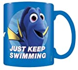 "Finding Dory Tazza in ceramica ""Just Keep Swimming Blue motivo ""Alla ricerca di Dory"" - multicolore"