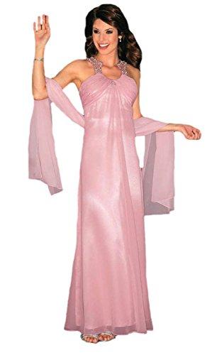 Laura Scott Evening Abendkleid Ballkleid MIT Schal rosé Gr. 38