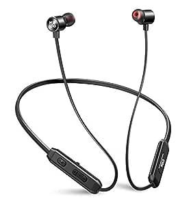 Mulo Wonderloop 500 Wireless Neckband Earphone with Deep Bass Sound, IPX7 and Vibration Alert (Black)