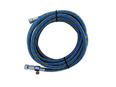 2in1 Airbrush 3 Meter Schlauch Textilschlauch Inkl. Schnellkupplung 1/8 Anschluss Gewebeschlauch Adapter Zubehör