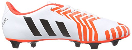 adidas Predito Instinct Fg, Chaussures de Football Compétition homme Blanc - Weiß (Ftwr White/Core Black/Solar Red)