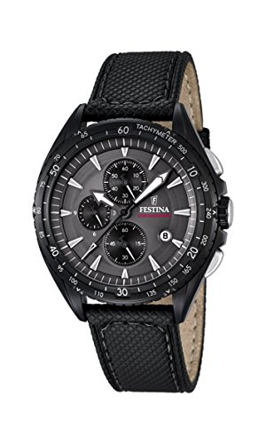 Festina-Mens-Quartz-Watch-with-Grey-Dial-Chronograph-Display-and-Black-Leather-Strap-F168472