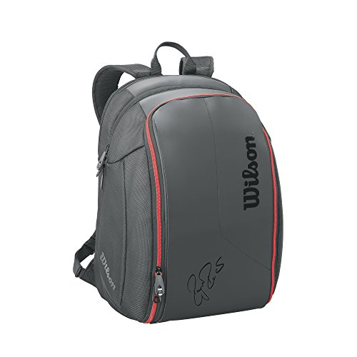 Wilson zaino Federer DNA Backpack Red, Nero, 44 x 24 x 33 cm, 26 litri, wrz83 2796 - Wilson Zaino Tennis Nero