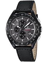 Festina Herren-Armbanduhr Analog Quarz Leder F16847/2