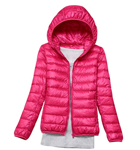 546c27626 Lightweight Down Jacket Women with Hood Womens Down Coats Women'S Ultra  Light Packable Down Jacket Down Filled Coat Parka Quilted Padded Hooded  Puffer ...